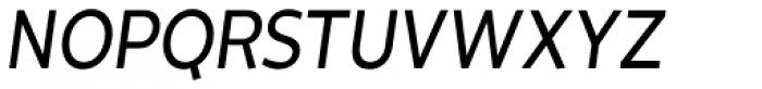 Cavita Italic Font UPPERCASE