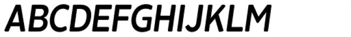 Cavita Rounded Demibold Italic Font UPPERCASE