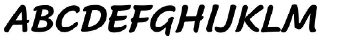 Cavolini Condensed Bold Italic Font UPPERCASE
