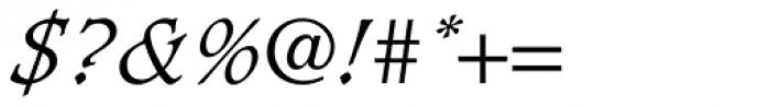 Caxton Light Italic Font OTHER CHARS