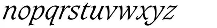 Caxton Light Italic Font LOWERCASE