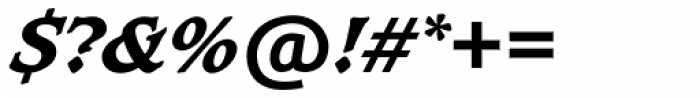 Caxton SH ExtraBold Italic Font OTHER CHARS