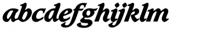 Caxton SH ExtraBold Italic Font LOWERCASE