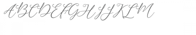 Camomile Font UPPERCASE