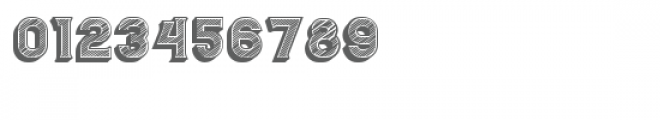 Casino 3D Lines Font OTHER CHARS