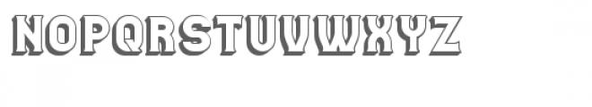 Casino 3D Font UPPERCASE