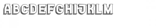Casino 3D Font LOWERCASE