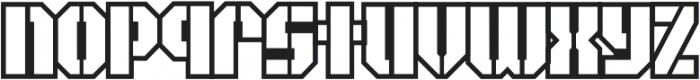 CCArea51MilitaryOpen otf (400) Font LOWERCASE