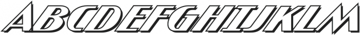 CCAtomicWedgieOutline Regular otf (400) Font UPPERCASE