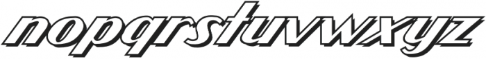 CCAtomicWedgieOutline Regular otf (400) Font LOWERCASE