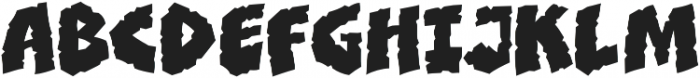 CCClobberinTimeCrunchy otf (400) Font UPPERCASE