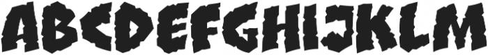 CCClobberinTimeCrunchy otf (400) Font LOWERCASE