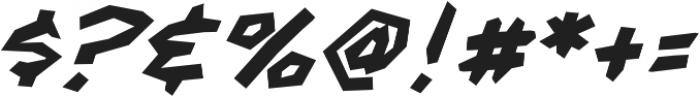 CCFightingWords-BoldItalic otf (700) Font OTHER CHARS