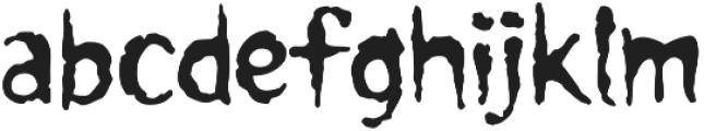CCForkedTongue Regular otf (400) Font LOWERCASE