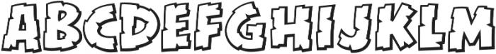 CCKillZoneOutline otf (400) Font LOWERCASE
