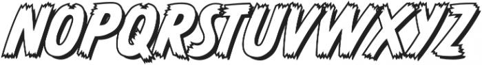 CCMonsterMashOutline otf (400) Font UPPERCASE