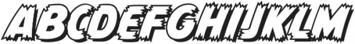 CCMonsterMashOutline otf (400) Font LOWERCASE