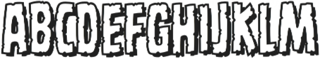 CCMonstrosityHide otf (400) Font LOWERCASE