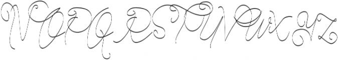 Cecilia Script ttf (400) Font UPPERCASE