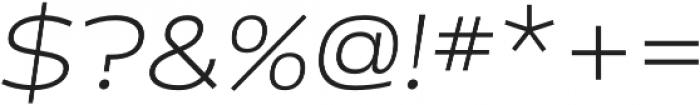 Cedra 4F Wide UltraLight Italic otf (300) Font OTHER CHARS