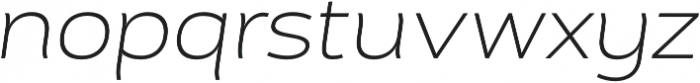 Cedra 4F Wide UltraLight Italic otf (300) Font LOWERCASE