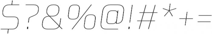 Celdum Thin Italic otf (100) Font OTHER CHARS