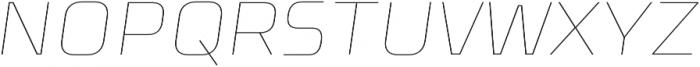 Celdum Thin Italic otf (100) Font UPPERCASE