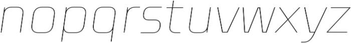 Celdum Thin Italic otf (100) Font LOWERCASE