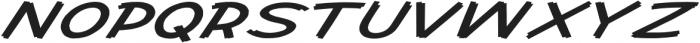 Cent City Extra-expanded Italic otf (400) Font UPPERCASE