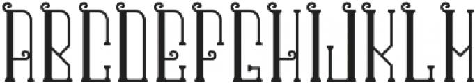 CentennialFont Base otf (400) Font UPPERCASE