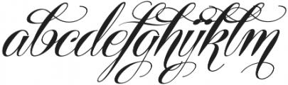 Centeria Script Fat Alt Slanted otf (800) Font LOWERCASE