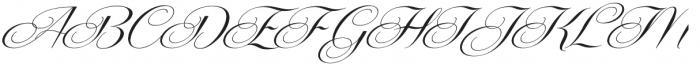 Centeria Script Medium Slanted otf (500) Font UPPERCASE