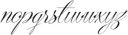 Centeria Script Medium Slanted otf (500) Font LOWERCASE