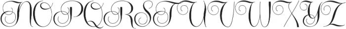 Centeria Script Medium ttf (500) Font UPPERCASE