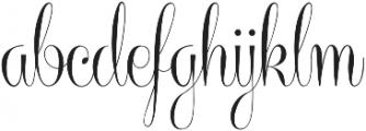 Centeria Script Medium ttf (500) Font LOWERCASE