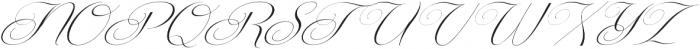 Centeria Script Thin Alt Slante otf (100) Font UPPERCASE