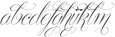Centeria Script Thin Alt Slante otf (100) Font LOWERCASE