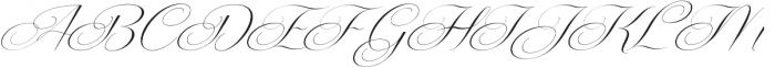 Centeria Script Thin Slanted ttf (100) Font UPPERCASE