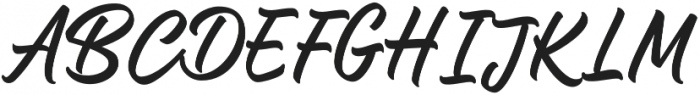 Central Point Regular otf (400) Font UPPERCASE
