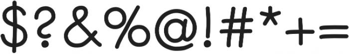 Centura Round ttf (700) Font OTHER CHARS