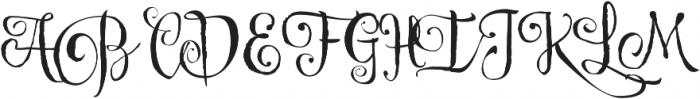 Cereal Script otf (400) Font UPPERCASE
