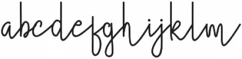Certainly Style otf (400) Font LOWERCASE