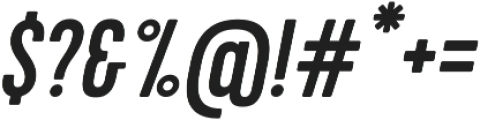 Cervo Medium Italic otf (500) Font OTHER CHARS