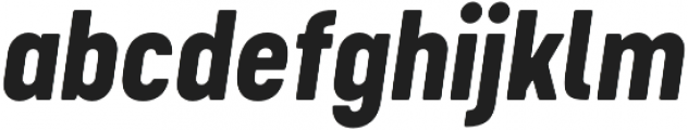 Cervo Neue ExtraBold Neue Italic otf (700) Font LOWERCASE