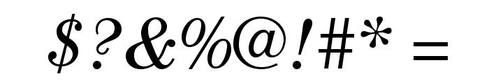 CenturyStd-BookItalic Font OTHER CHARS
