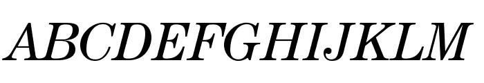 CenturyStd-BookItalic Font UPPERCASE