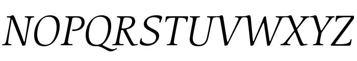 CerigoStd-BookItalic Font UPPERCASE