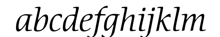 CerigoStd-BookItalic Font LOWERCASE