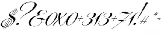 Centeria Script Medium Slanted Font OTHER CHARS