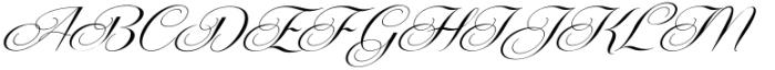 Centeria Script Medium Slanted Font UPPERCASE